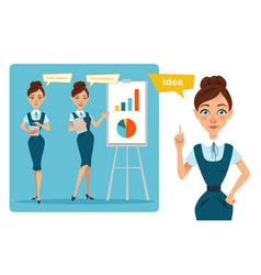 business women characters idea vector image