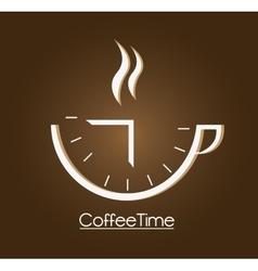 Coffee mug and time design vector