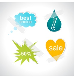 Color advertising vector image