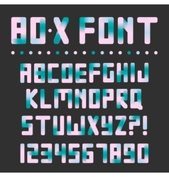 Colorful bright font vector image