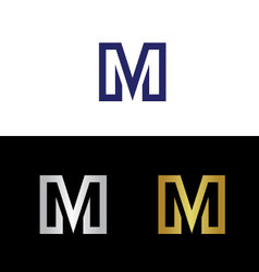 Cpital letter M vector image vector image