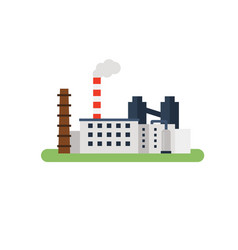 factory landscape flat vector image vector image