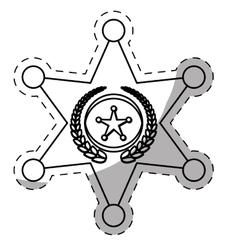Figure police bradge icon design vector