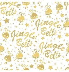 Golden bells seamless pattern vector