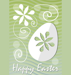 happy easter fine green wavy background with vector image