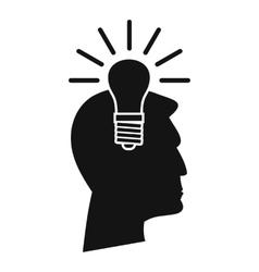 Light bulb idea icon simple style vector image vector image