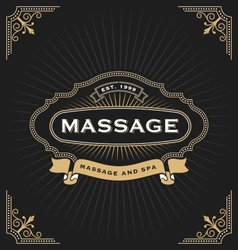 Massage and Spa Banner Design vector image