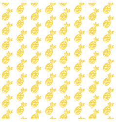 Pineapple fruit brush seamless pattern vector