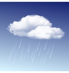 Raincloud and rain in the blue sky vector