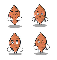 Set yam character collection stock vector