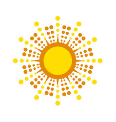 sun icon isolated vector image