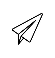 thin line telegram plane icon vector image