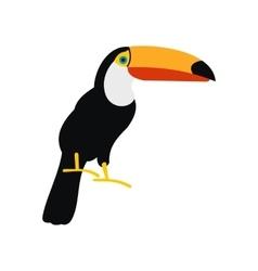 Toucan icon flat style vector