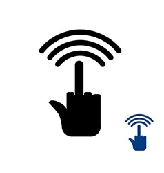 Wi fi wireless transmission for bullies vector