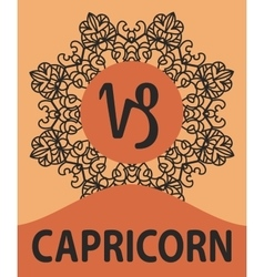 Zodiac sign capricorn of vector