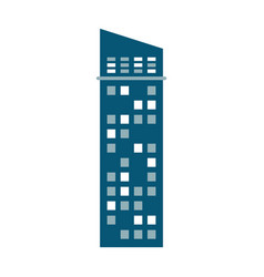 Building urban skyscraper vector