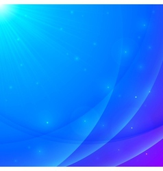Abstract blue shining wavy background vector image