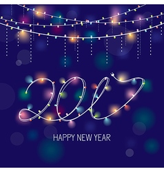 2017 new year greeting card vector image