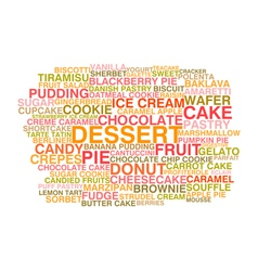 Variety of desserts vector