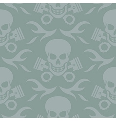 Skull and pistons seamless background vector