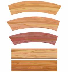 Set of wooden elements vector