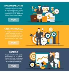 Time management banners vector