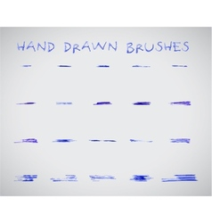 Set of felt pen marker hand drawndoodle sketched vector