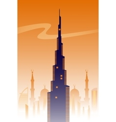 Dubai skyline background vector