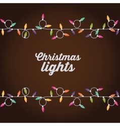 Christmas lights design vector