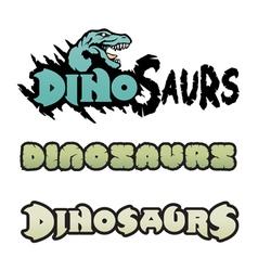 dinosaurs logos vector image