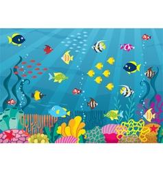 Undersea vector image