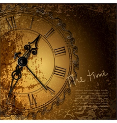 antique clock background vector image