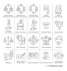Banking service icons vector