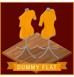 Dummy flat isometric icon vector