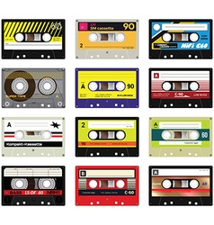 Vintage cassette tapes vol 2 vector