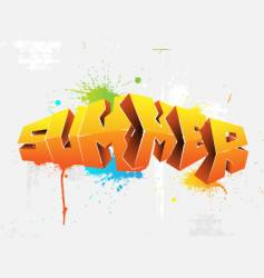 graffiti summer vector image