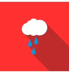Rain cloud icon flat style vector