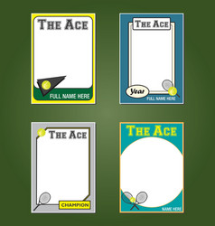 Tennis cards vector