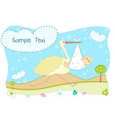 babys card vector image