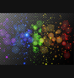 background design with rainbow rings of light vector image vector image