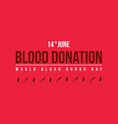 Banner style for blood donor day vector