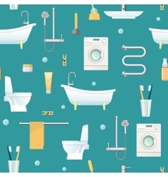 Bathroom Seamless Pattern vector image vector image
