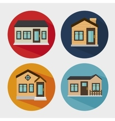 beautiful mansion isolated icon design vector image
