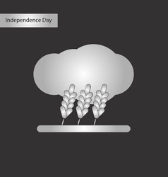 black and white style icon of wheat cloud vector image