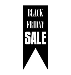 Black fiday sale banner icon simple style vector