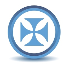 Blue crusaders icon vector