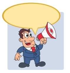 Businessman with megaphone 4 vector image vector image