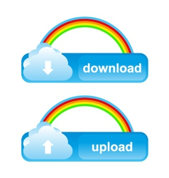 Buttons download upload vector