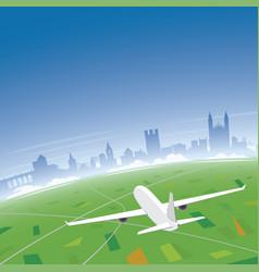 Cambridge skyline flight destination vector