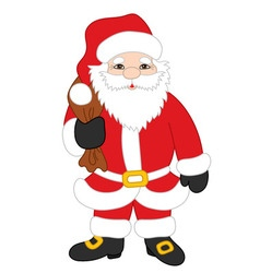 Christmas Santa Claus with Sack vector image